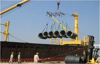 Loading of steel wire rods