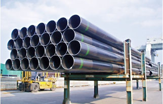 Steel pipes in pipe rack