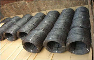 Steel wire rods in vessel's hold